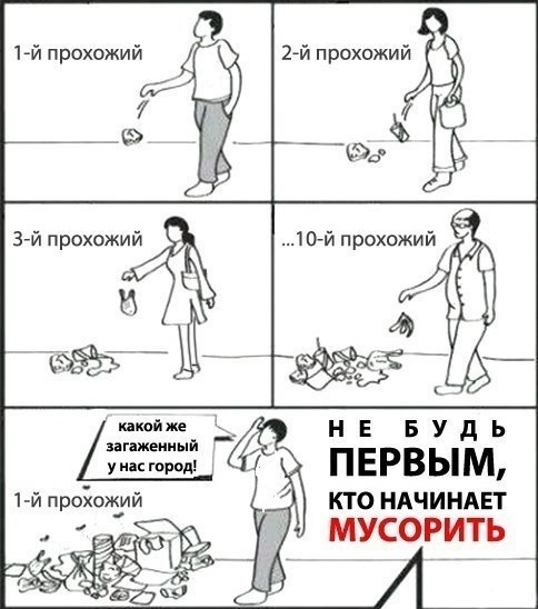 Хватит мусорить!